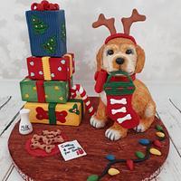 HO-HO-HO Puppy Cake