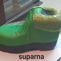 Side view of the Shoe Cake