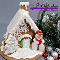 Gingerbread 3D cookie house