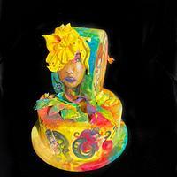 Hand painted cake by Mira Mihaylova