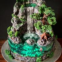 Waterfall Cake - from the Island cakes