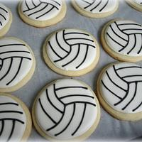 Volleyball sugar cookies