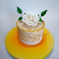 Carrot cake with decoration