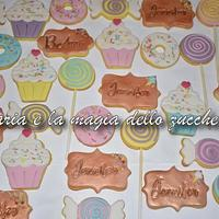 sweet candy cookies