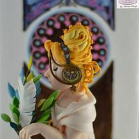 Feather - Art Nouveau Meets the Cake Artists - A Cake Collective collaboration