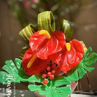 Isomalt Flower Arrangement