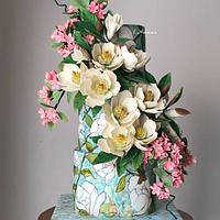 Magnolia cake.... by More_Sugar