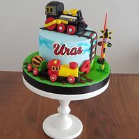 Train cake by Sevda Şen