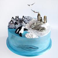 Antarctica birthday cake
