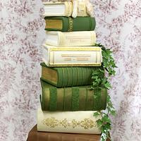 Book Stack wedding cake