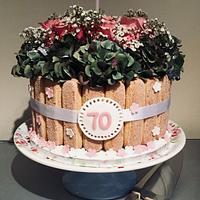 Tiramisu Floral Cake by Sugar by Rachel