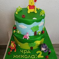 Торта с Мечо пух и приятели!