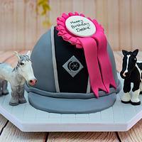 Horse Riding Hat Cake