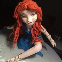 Saracino red hair doll