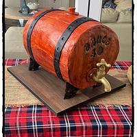 Working whiskey barrel