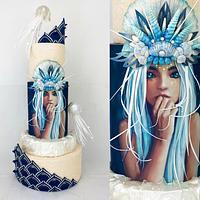 Mermaid Wedding cake  by Cindy Sauvage