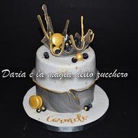 Isomalt marble cake