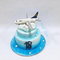 Plane cake Birthday