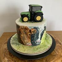 Hand painted farming cake by milkmade