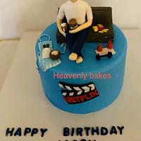 Birthday hobby cake