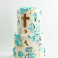 Christening cake by Sweet Avenue Cakery