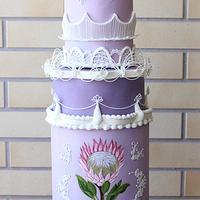 King Protea Wedding Cake