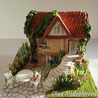 Summer Gingerbread house
