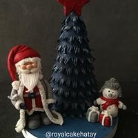 Blue Christmas Cake