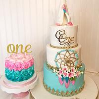 Bohemian style cake