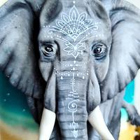 Olivia, the elephant by Cakexcite