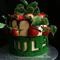 Cake strawberries