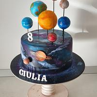 Planets cake.