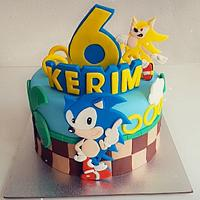 Sonic cake  by Azra Cakes