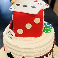 Game night birthday cake