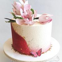 Magnolia birthday cake