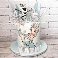 Elsa frozen cake by Martina Encheva