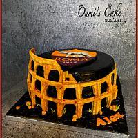 AS Roma Cake - Colosseum Cake by Cécile Fahs
