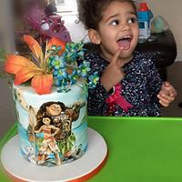 Moana Birthday Cake by Calli Creations