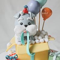 Surprise Puppy Cake