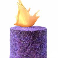Purple And Gold Sparkle