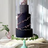 Black wedding cake