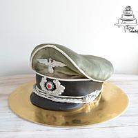 German officer hat cake