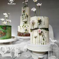 Wedding cake set in natural style