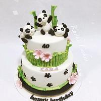Panda cake Birthday