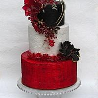 Wedding in red and black