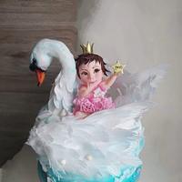 Swan and little princess by Tanya Shengarova