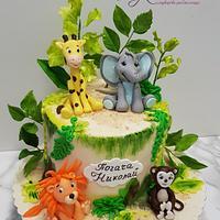 Jungle baby cake by Svetlana Hristova
