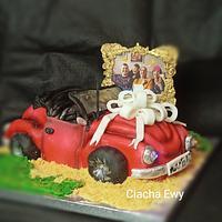 3d Cabriolet Cake by Ewa