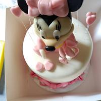 baby minnie birthy cake by Cups'& Cakery Design