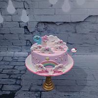 Birthday Cake in Blush Pink